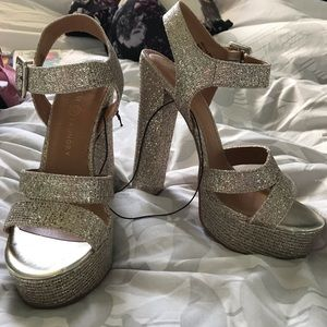 2fa8dd0aaee Glam champagne Chinese Laundry platform heels